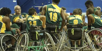 during the Mens u23 World Wheelchair Basketball Championship game between South Africa and USA at the Mattamy Athletic Centre in Toronto, Canada on June 12 2017©Barry Aldworth/eXpect LIFE