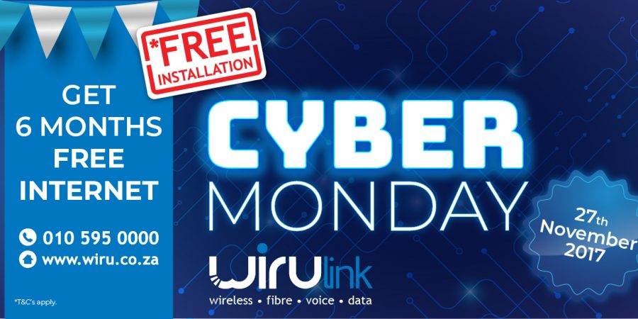 WIRUlink to offer 6 months free internet Cyber Monday