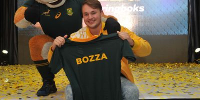 Mark Nancarrow  The MTN Bozza Winner during the Announcement of the Official Bozza of the Springboks Pic Sydney Mahlangu/BackpagePix
